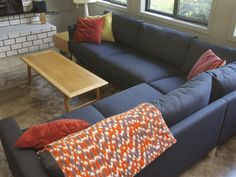 This (sorta) Old Life:  Ikea love letter karlstad couch family room