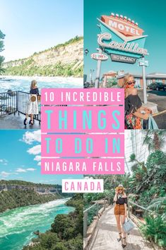 Visiting Niagara Falls sometime soon? This travel guide includes 10 incredible things to see and do while you're there to get the most out of your visit. Includes what to see do eat and drink plus some great photo spots! You wont want to miss these! Canada Travel, Travel Usa, Quebec, Visiting Niagara Falls, Niagara Falls Things To Do, Montreal, Vancouver, Columbia, Best Weekend Getaways