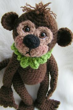 #Crochet this cute little guy for your kids; they'll love him!
