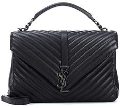 Saint Laurent Large Collège Monogram leather shoulder bag Quilted Leather 818cf673d489d