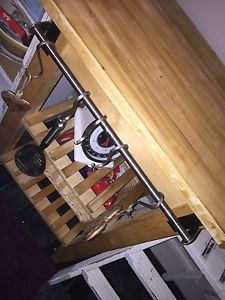 Farmhouse kitchen Solid Pine butchers block trolley | eBay