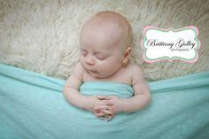 Newborn Baby In Bed | Sleeping Baby | Brittany Gidley Photography LLC
