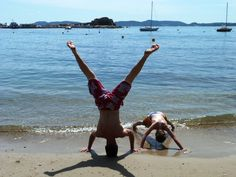 Fun at the beach on the French Riviera