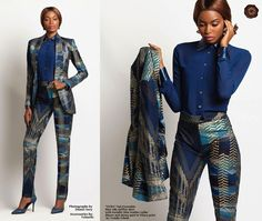 Loooooove this Ankara suit, absolutely beautiful