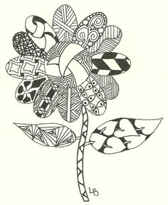 Zentangle Flower.