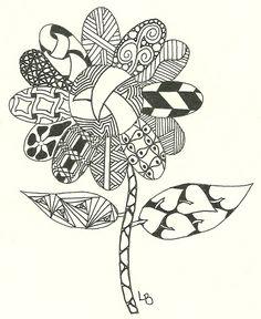Zentangled Flower.