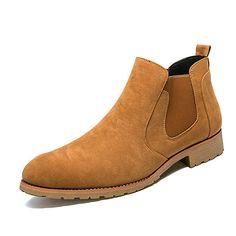 Homme Chaussures Vrai cuir Daim Automne Hiver Confort Bottes à la Mode Bottes Bottes Mi-mollet Pour Décontracté Noir Gris Marron de 2017 ? $31.14