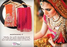 Don't just slip off that marvelous ensemble when the festivities end! Here's how you maintain its glam just after!