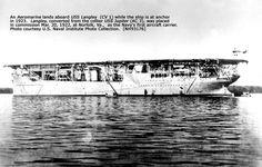 The Navy's first aircraft carrier, USS Langley American Aircraft Carriers, Navy Carriers, Sea And Ocean, Norfolk, Ships, Vehicles, Aircraft Carrier, Boats, Car
