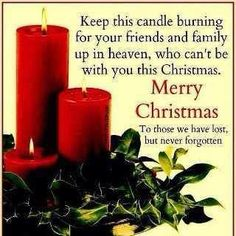 The holiday season can be so hard to get through when you miss someone in Heaven. You know they are in a better place, but here you are without them. But celebrate in remembrance of happy times and out of honor for the knowledge that they love you and want you to be happy.