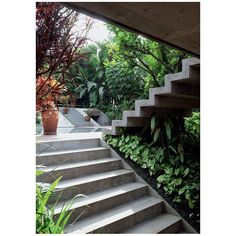 Find Out: 15 Modern Garden Stairs Ideas Bring Perfection Obviously Landscape Architecture, Landscape Design, Stairs Architecture, Exterior Design, Interior And Exterior, External Staircase, Garden Stairs, Exterior Stairs, Stucco Exterior