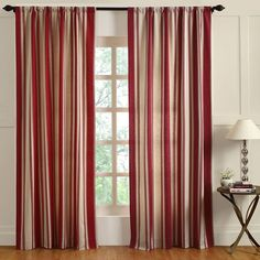 Cottage Home Canon Cotton 96 Inch Curtain Panel (Red Canon 96 Curtain Panel)