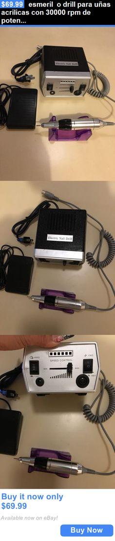Nails: Esmeril O Drill Para Uñas Acrilicas Con 30000 Rpm De Potencia En Color Negro BUY IT NOW ONLY: $69.99