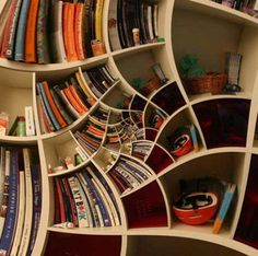 Bookcase Rotary Effect
