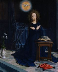 1506 - 'The Annunciation', by Gérard David (Netherlands, Oudewater, 1460-1523). Oil on wood. Metropolitan Museum of Art, New York