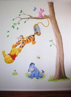 BIM Muurschildering & Schilderijen Girl Bedroom Walls, Baby Bedroom, Kids Room Murals, Art Wall Kids, Disney Rooms, Disney Art, Baby Boy Rooms, Baby Boy Nurseries, Mural Art