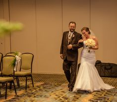 walking down the aisle with my father