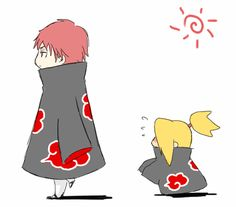 Sasori and Deidara Naruto Vs Sasuke, Naruto Gif, Naruto Fan Art, Naruto Cute, Naruto Images, Naruto Pictures, Anime Chibi, Kawaii Chibi, Kawaii Anime