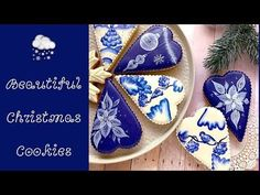 Beautiful Christmas Cookies. One stroke technique.❄️ - YouTube