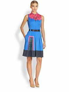 Akris - Casa Azul Print Dress - Saks.com