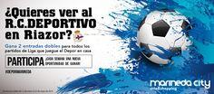Sorteamos entradas para todos los partidos de Liga que juegue el Deportivo en casa hasta el final de la temporada. Participa aquí:  https://basicfront.easypromosapp.com/g/11048 #Depor #Deportivo #MarinedaCity #deporte #futbol
