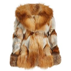 Anna Sui Fox Fur Jacket (198,285 DOP) ❤ liked on Polyvore featuring outerwear, jackets, multicolored, multi coloured jacket, colorful jackets, anna sui, brown jacket and anna sui jacket