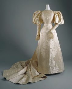 1890's wedding dress