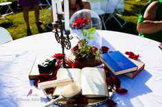 Disney themed centerpieces-Beauty and the Beast
