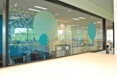 Freeths – Milton Keynes |  Multi-layered #glazing. Printed optically clear using different percentages of white, printed frosts. #Gold #metallic #vinyls, #printed WW100.  Design by So Vibrant