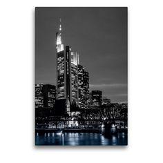 Frankfurt, Monochrom, New York Skyline, Round Tower, Culture Travel, County Seat, Water Art