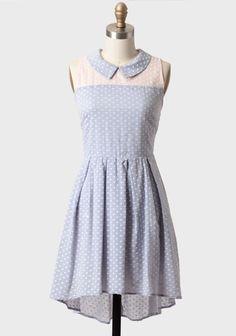 Charming Chambray Heart Print Dress   Modern Vintage Dresses  Modify to be a trapeze top (maternity)