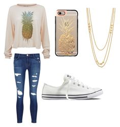 """""""Night out"""" by maddy-jennings on Polyvore featuring Casetify, Wildfox, Converse, J Brand and Gorjana"""