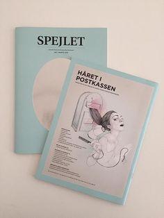 """""""Håret i Postkassen"""" - Cover til fagbladet """"Spejlet"""" for Dansk Frisør og Kosmetiker Forbund.  //  Illustration: Sarah Egbert Eiersholt //  """"To have your hair in the mailbox"""" is Danish for being in trouble :) This cover illustration is for the magazine """"Spejlet"""" (The Mirror) for the Danish Association of Hairdressers."""