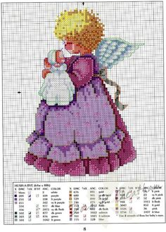Gallery.ru / Фото #18 - Children - Dora2012 Cross Stitch Fairy, Cross Stitch Angels, Cross Stitch For Kids, Beaded Cross Stitch, Cross Stitch Borders, Cross Stitch Charts, Cross Stitch Designs, Cross Stitching, Cross Stitch Embroidery
