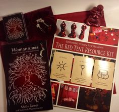 The Red Tent Resource Kit (complete ceremony guide and resource lot: goddess sculpture, pendulum, pendant, Womanrunes book, and more)