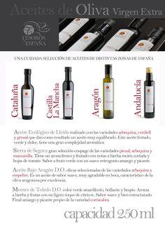 Una selección de aceites de distintas zonas de España