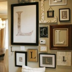 Initial wall! What a cute idea!