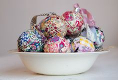 Patchwork baubles from one of my favourite bloggers