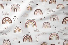 Baby Girl Blanket Brown Rainbow, Watercolor Rainbow Baby Shower Gift Personalized Blanket, Newborn Gift with Name, Rainbow Swaddle Blanket Cloud Fabric, Baby Fabric, Cotton Fabric, Rainbow Cloud, Rainbow Baby, Rainbow Nursery, Best Baby Shower Gifts, Personalised Blankets, Baby Girl Blankets