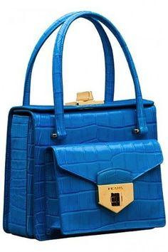 Handbag doppio scomparto turchese di Prada