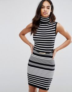 Get this Lipsy's jersey dress now! Click for more details. Worldwide shipping. Lipsy Roll Neck Striped Jumper Dress - Black: Dress by Lipsy, Smooth knit, Roll neck, All-over stripe design, Regular fit - true to size, Machine wash, 77% Viscose, 23% Nylon, Our model wears a UK 8/EU 36/US 4 and is 175cm/ 5'9 tall. Renowned for their statement party dresses, London fashion brand Lipsy channel a young, fun vibe in their partywear, footwear and jewellery collections. Dedicated to delivering…