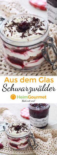 Dieses Schwarzwälder-Kirsch-Dessert aus dem Glas ist einfach und lecker. Eine tolle variante des Klassikers!