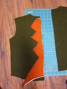 Make, Jane, make! DIY Halloween Dragon Costume - good for the scales tutorial