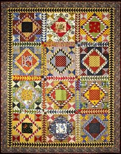 """Vintage inspired, """"Flying Fancy"""" by Wendy Whellum (Australia). The quilt is based on a Blind Man's Fancy quilt in a booklet Wendy saw about New York State Quilts."""