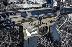 #MADBlack with #MidnightBronze Cerakote on a @spikes_tactical Warthog AR15.  http://ift.tt/1yQDEDl  @sharpsbros @hexmag #cerakoteMADness #cerakote #ar15 #MADcustomcoating #MADcustom #cerakotemagic #cerakotemafia #cerakotemilitia #warthog #223 #556 #spikestactical #hexmag #pewpewlife #guns #police #military