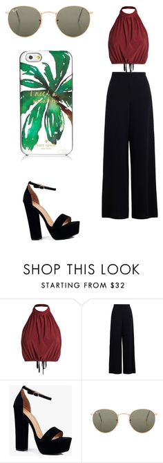 """""""Untitled #82"""" by vega-skouboe-lindberg on Polyvore featuring Zimmermann, Boohoo, Ray-Ban and Kate Spade"""