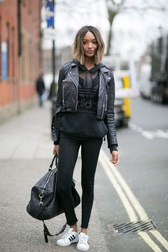 Sporty Chic 穿出街頭運動風就這麼簡單:從 Jourdan Dunn 的街拍中找出訣竅   Popbee - a fashion, beauty blog in Hong Kong.