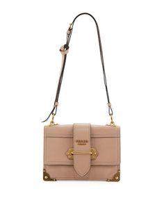 818487394099 Glace+Cahier+Small+Calf+Shoulder+Bag+by+Prada+