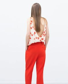 Image 3 of LOOSE-FIT TROUSERS from Zara