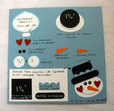 Snowman Punch Art | The next card features punch art, we used lots of punches and a circle ...